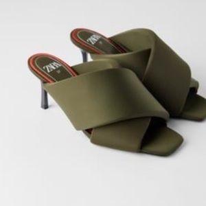 Brand new Zara padded mules
